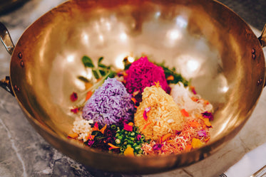 colorful thai rice dish