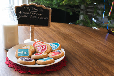 cookies and almond milk for santa