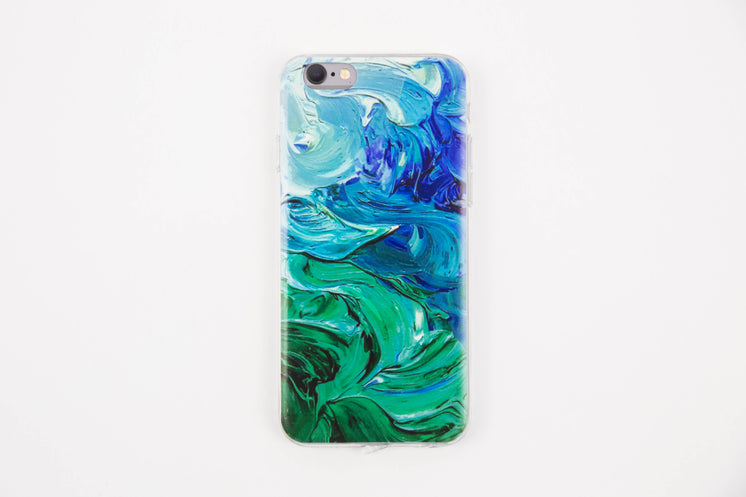 Cool Painted iPhone Case Blue Green