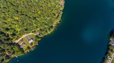 cottage country aerial