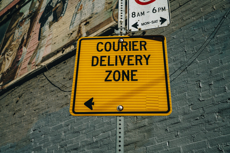 Courier Delivery Zone Sign