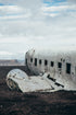 crashed aircraft wreckage