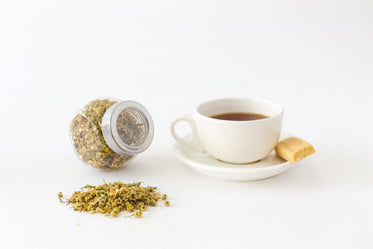 cup of yellow tea