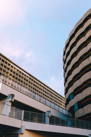 curved and straight buildings