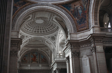 curved church ceiling