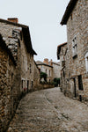 curved stone street