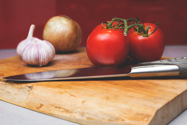 Free Cutting Board With Veg Image: Stunning Photography