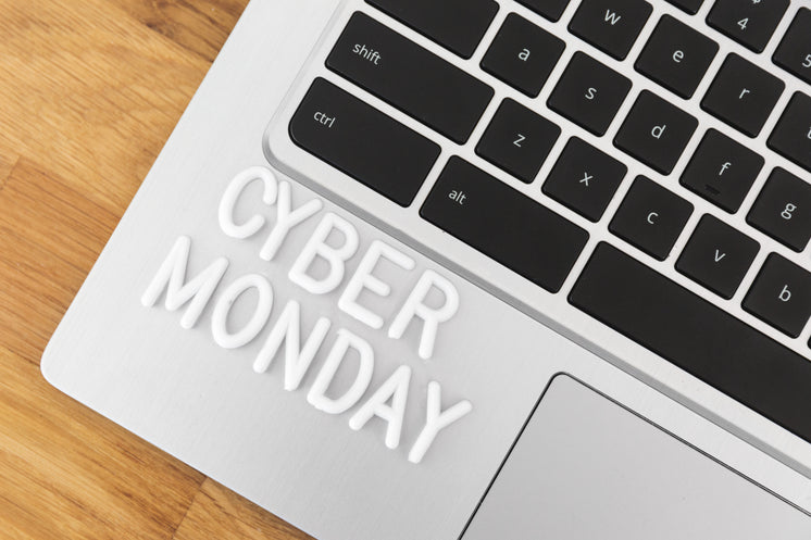 Cyber Monday Lettering On Laptop