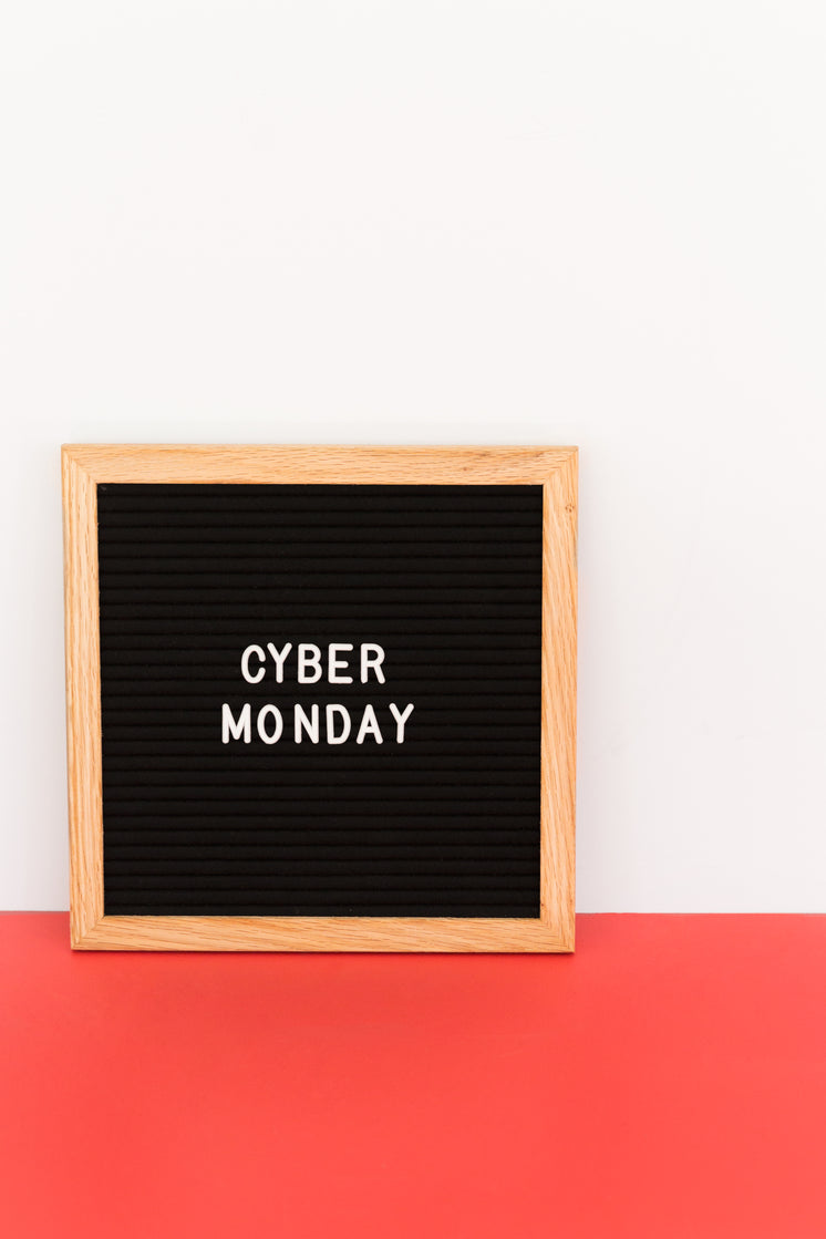 Cyber Monday Sign On White And Red