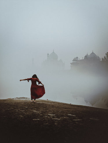 dancing with the taj mahal in the mist