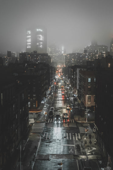 dark and foggy city