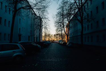 dark city street at dusk