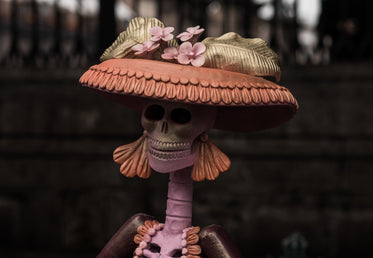 day of the dead skeleton figurine