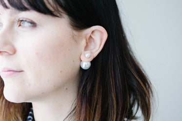 Picture of Double Pearl Earrings - Free Stock Photo