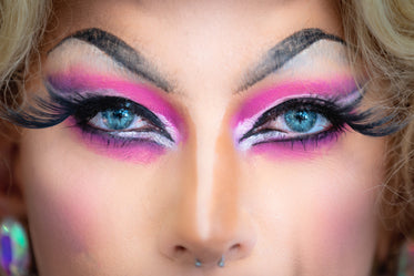 drag queen eyes closeup