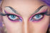 drag queen eyes very close up