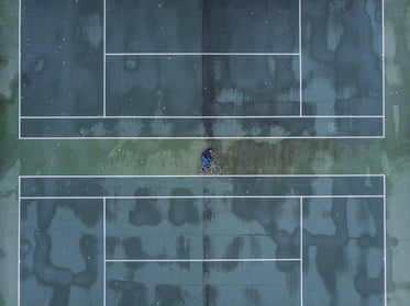 drone image of cyclist