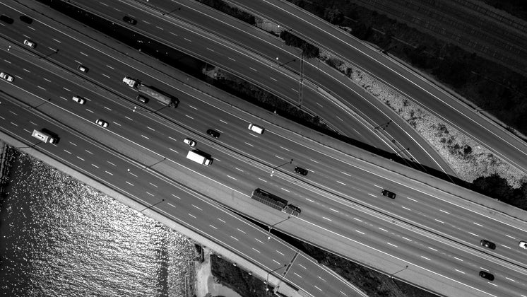 Drone Image Of Highway
