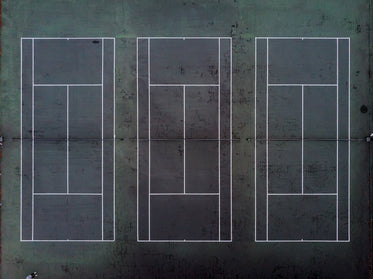 drone view of three tennis courts