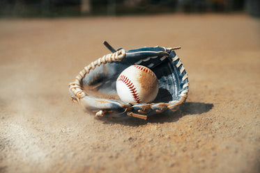 dusty baseball glove