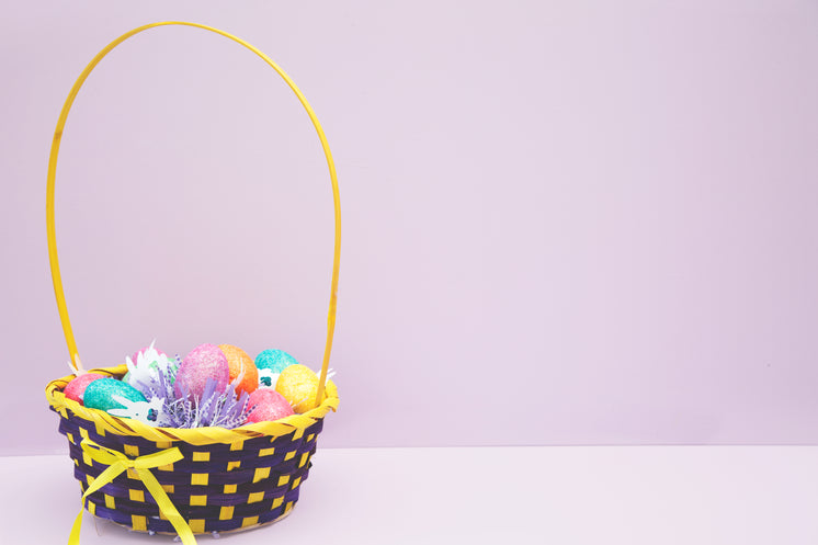 Easter Basket On Pink