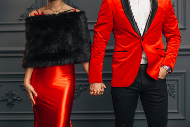 elegant red formal fashion