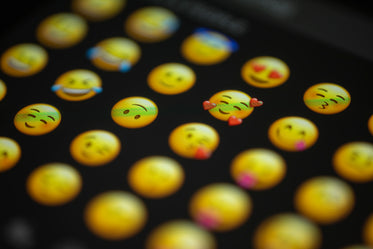emoji faces on a screen