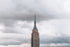 empire state top cloudy sky