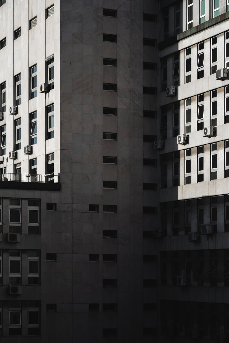 Exterior Walls Of Pristine Tall Building Covered In Windows