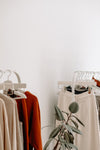 fall neutral colors in retail display