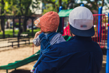Picture of Father & Daughter At Park - Free Stock Photo