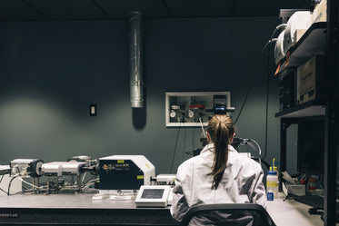 female scientist at work in lab