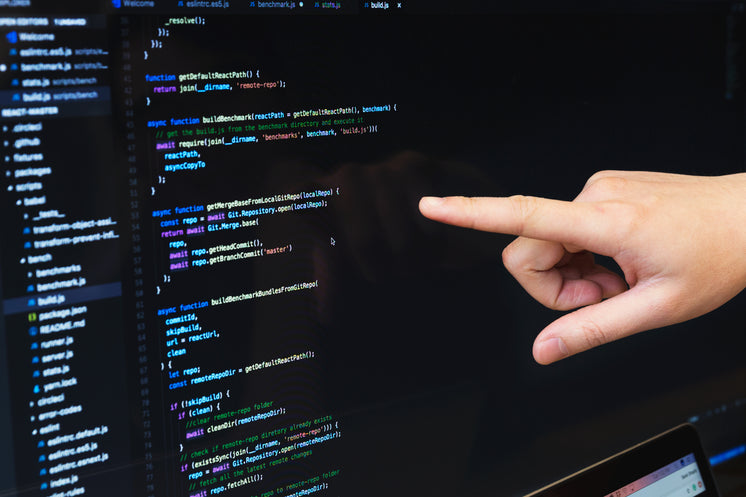 Finger Pointing At Javascript Code