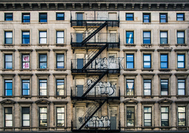 fire escape on old apartment