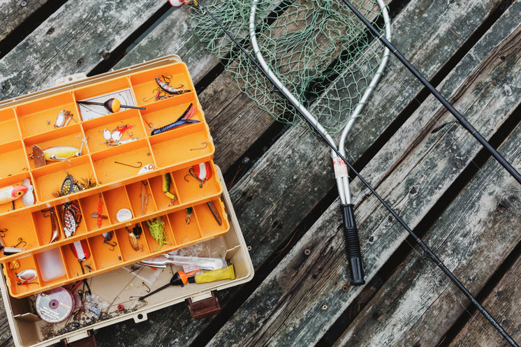 Fishing Tackle On Dock