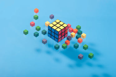 floating cubes on blue