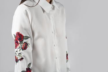 floral detailed blouse