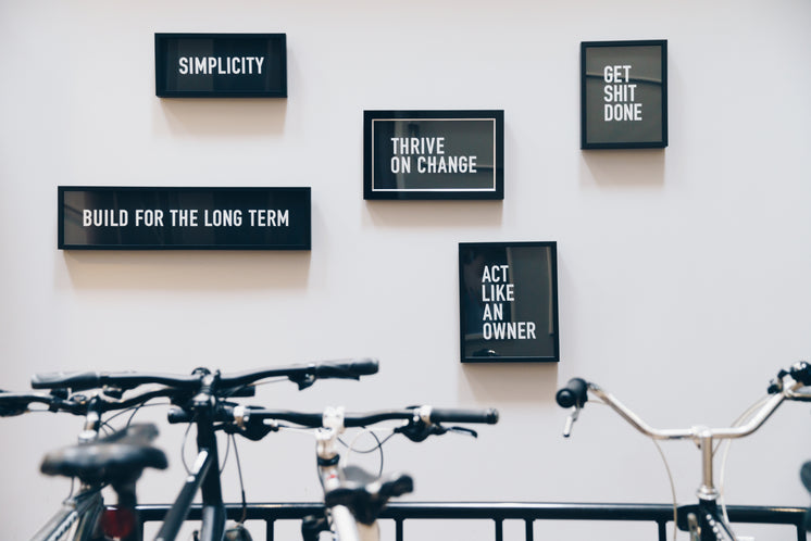 Framed Quotes Behind Bike Rack