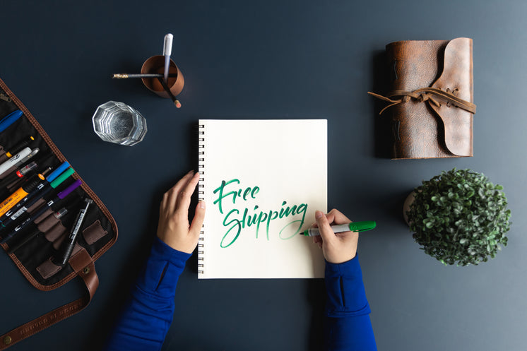 Free Shipping Written In Notebook