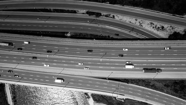 freeway aerial view