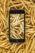 Picture of French Fries Phone Photography — Free Stock Photo