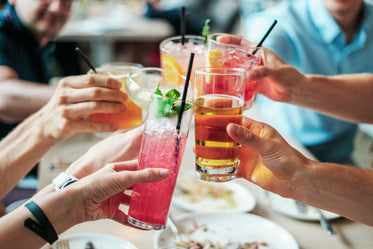 fresh & cool cheers with friends