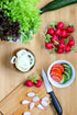 Browse Free HD Images of Fresh Salad Ingredients On Cutting Board