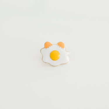fried egg lapel pin product photo