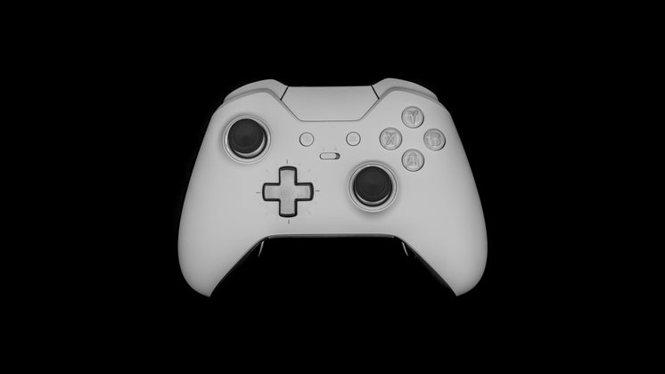 Gaming Controller Against A Black Background