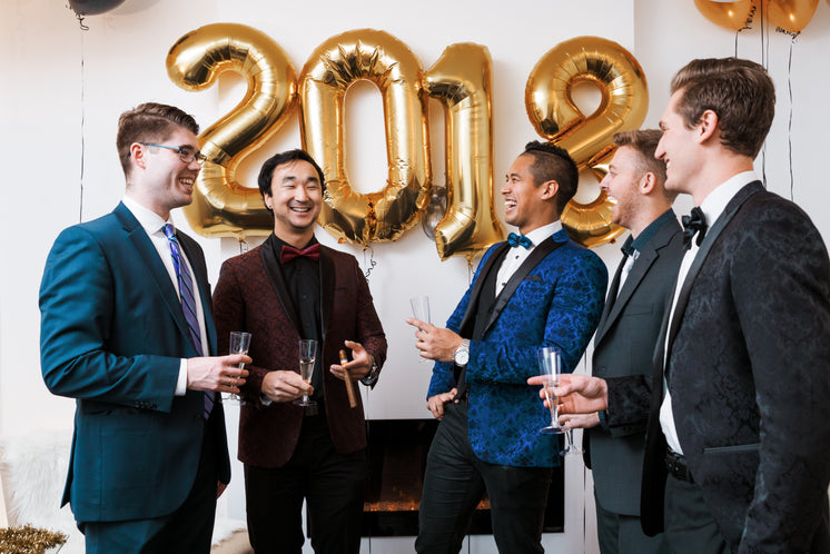 Gentlemen Celebrate The New Year