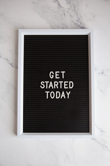 get started today sign on marble
