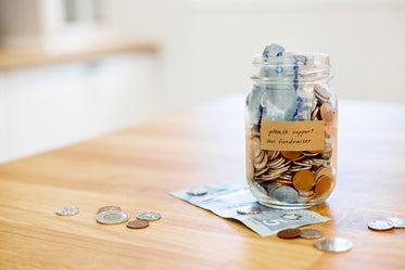 glass jar fundraiser