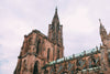 gothic red brick church steeples and spires