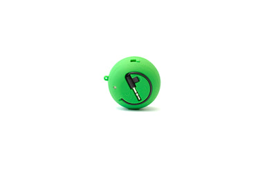 green portable speaker